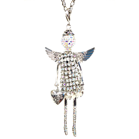 -,'LOVE' ANGEL PENDANT/KEYCHAIN.