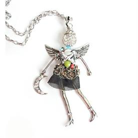 -,'JUST BECAUSE' ANGEL PENDANT/KEYCHAIN