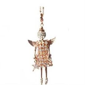 -,'ROSE GOLD GUARDIAN' ANGEL PENDANT