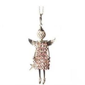 -,'PINK GUARDIAN' ANGEL PENDANT