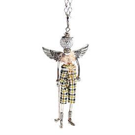 -,'GOLFER' ANGEL PENDANT/KEYCHAIN