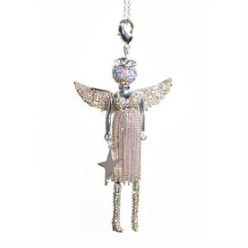 -,'CHRISTMAS LOVE' ANGEL PENDANT/KEYCHAIN