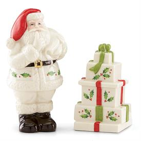 _'HOSTING THE HOLIDAYS' SANTA SALT & PEPPER SHAKER SET. MSRP $40.00