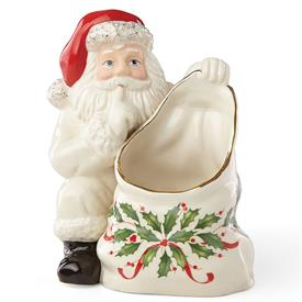 "-'HOSTING THE HOLIDAYS' SANTA CANDY DISH. 5.8"". MSRP $60.00"