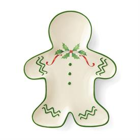 "-GINGERBREAD MAN ACCENT PLATE FROM THE 'HOSTING THE HOLIDAYS' COLLECTION. (8"" LONG. MSRP $40.00)"