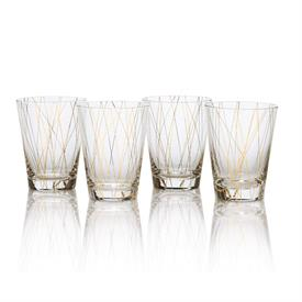 -GOLD LINE DOUBLE OLD FASHIONED, SET OF 4