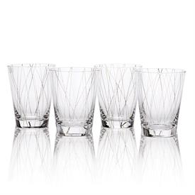 -PLATINUM LINE DOUBLE OLD FASHIONED, SET OF 4
