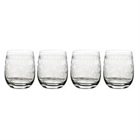-CLEAR SET OF 4 DOUBLE OLD FASHIONED TUMBLERS