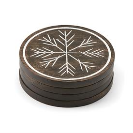 -WOOD 4 PIECE COASTER SET. MSRP $29.00