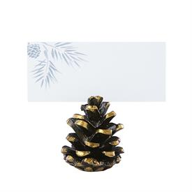 -4 METAL PINECONE PLACE CARD HOLDERS. MSRP $29.00