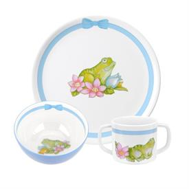 -3 PIECE FROG MELAMINE KIDS SET