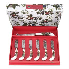 -CHEESE KNIFE & SET OF 6 SPREADERS