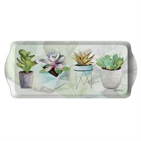 "-SUCCULENTS SANDWICH TRAY. MELAMINE. 15.1"" LONG"