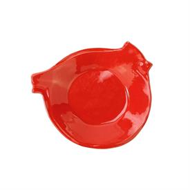 "-7.5"" RED BIRD CANAPE PLATE"