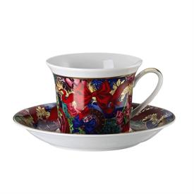 """_,COFFEE CUP & SAUCER. SAUCER IS 6.25"""" WIDE. CUP IS 3"""" TALL"""