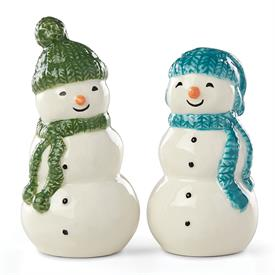 "-SNOWMAN SALT & PEPPER SHAKER SET. 3"" TALL. MSRP $40.00"