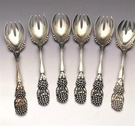""",ICE CREAM FORKS BLACKBERRY & VINE BY TIFFANY STERLING SILVER 1.15 TROY OUNCES EACH 5.6"""" LONG ORIGINAL PIECES NOT ALTERED FROM A TSP - NICE!"""