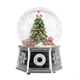 "-5.5"" MUSICAL TREE SNOW GLOBE. PLAYS 'WE WISH YOU A MERRY CHRISTMAS'. MSRP $80.00"