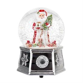 "-5.5"" MUSICAL SANTA SNOW GLOBE. PLAYS 'WE WISH YOU A MERRY CHRISTMAS'. MSRP $80.00"