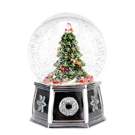 "-6.5"" MUSICAL TREE SNOW GLOBE. PLAYS 'WE WISH YOU A MERRY CHRISTMAS'. MSRP $100.00"