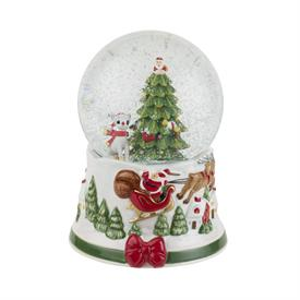 "-6.5"" MUSICAL SANTA SNOW GLOBE. PLAYS 'WE WISH YOU A MERRY CHRISTMAS'. MSRP $100.00"