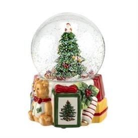 """-250TH ANNIVERSARY MUSICAL SNOW GLOBE. 6.5"""" TALL. PLAYS 'DECK THE HALLS'. MSRP $120.00"""
