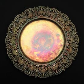 ",SALVER 9.2"" DIAMETER TIFFANY STERLING SILVER EXHIBITED IN PARIS AND BUFFALO EXHIBITIONS -HAS BOTH MARKS 15.20 T.OZ. GILT ""MCT 1902"" ON BACK"