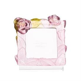 "-,SMALL ROSE FRAME IN PINK. FRAME MEASURES 3.5"" TALL. HOLDS 2.4"" SQUARE PHOTO"