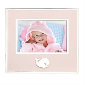 """-4X6"""" PINK WHALE FRAME. SILVER PLATE."""