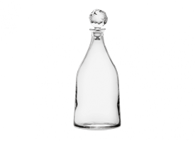 "-11.75"" DECANTER WITH POMEGRANATE STOPPER"