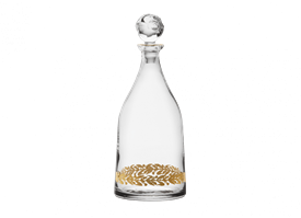 "-11.75"" DECANTER WITH POMEGRANATE SHAPED STOPPER"