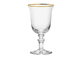 -GOLD RED WINE GOBLET, SET OF 2