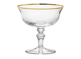 -GOLD CHAMPAGNE GOBLET, SET OF 2