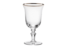 -PLATINUM WHITE WINE GLASS, SET OF 2