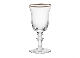 -PLATINUM LIQUEUR GOBLET, SET OF 2