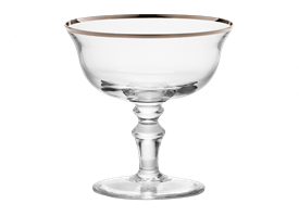 -PLATINUM CHAMPAGNE GOBLET, SET OF 2