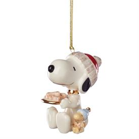 "-SNOOPY DOG TREATS ORNAMENT. 3"" TALL. MSRP $60.00"