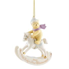 "-2019 WINNIE THE POOH BABY'S 1ST CHRISTMAS ORNAMENT. 4"" TALL. MSRP $60.00"