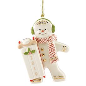 "-2019 SKATING GINGERBREAD ORNAMENT. 3.75"" TALL. MSRP $50.00"