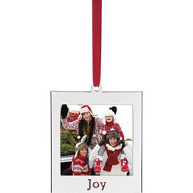 "-'JOY' SILVER PLATED CHARM FRAME ORNAMENT. 2.78"" TALL. MSRP $16.00"