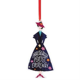 """-MARY POPPINS RETURNS 'PRACTICALLY PERFECT IN EVERY WAY' ORNAMENT. 6.75"""" TALL, 3.5"""" WIDE. MSRP $50.00"""
