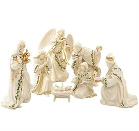 "-7-PIECE MINIATURE NATIVITY SET. 4"" TALL. MSRP $200.00"