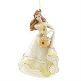 "-,PRINCESS BELLE ORNAMENT. 4.75"" TALL. MSRP $60.00"