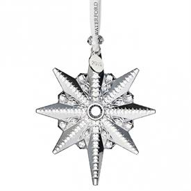"-,2019 SNOWSTAR ORNAMENT. 4.4"" LONG, 3.7"" WIDE, .7"" DEEP"