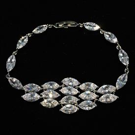 "-,CLEAR LONG CZ GRADUATED BRACELET. 7.2"" LONG"
