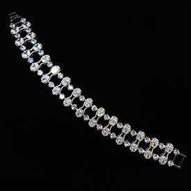 "-,CLEAR CZ LADDER BRACELET. 7.25"" LONG, .55"" WIDE"
