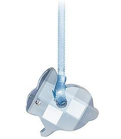 """,EASTER BUNNY CHARM ORNAMENT. #680847. 1"""". BLUE BUNNY WITH BLUE RIBBON. WITH BOX AND COA"""
