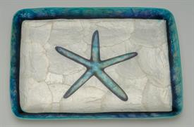 "-CAPRIZ RECTANGLE STARFISH TRAY. 8.2"" LONG, 5.75"" WIDE"