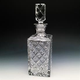 "-,DIAMOND WHISKEY DECANTER. 11.25"" TALL (WITH STOPPER)"