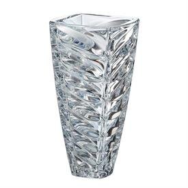 "-,FACET CRYSTAL VASE. 12"" TALL, 6"" WIDE"